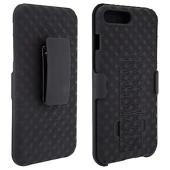 Verizon Shell Holster combo kotelo kickstand Apple iPhone 8/7/6/6S-musta