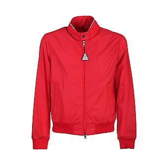 Moncler 1a7200068352455 Men's Red Nylon Outerwear Jacket