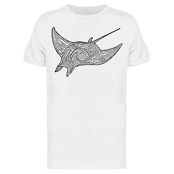 Ornate Stingray Fish Tee Men's -Image by Shutterstock