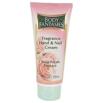 Body Fantasies Signature Rose Petals Fantasy Hand & Nail Cream By Parfums De Coeur 2 oz Hand & Nail Cream