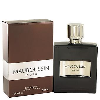 Mauboussin Pour Lui Eau De Parfum Spray By Mauboussin 3.3 oz Eau De Parfum Spray