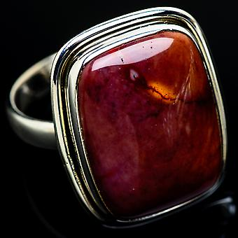 Mookaite Ring Size 10.75 (925 Sterling Silver)  - Handmade Boho Vintage Jewelry RING7815