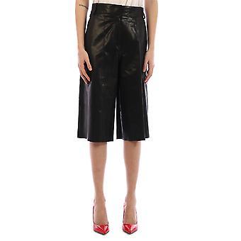 Arma 006l20106002black Women's Black Leather Shorts