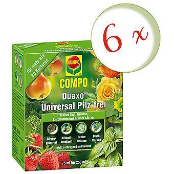 Sparset: 6 x COMPO Duaxo® Universal Mushroom-Free, 75 ml