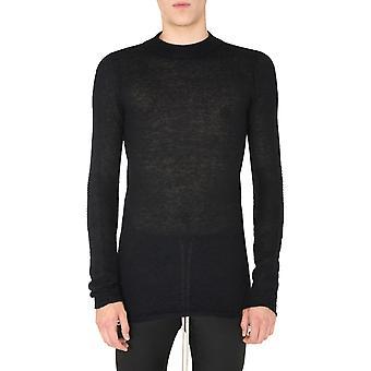 Rick Owens Ru20f3625kai09 Men's Black Wool Sweater