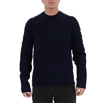 Comme Des Garçons Shirt W275072 Men's Blue Wool Sweater