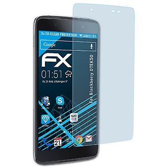 atFoliX 3x Screen Protection Film compatible with Blackberry DTEK50 Screen Protector matt&shockproof