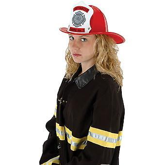 Hat palopäällikkö punainen aikuisille