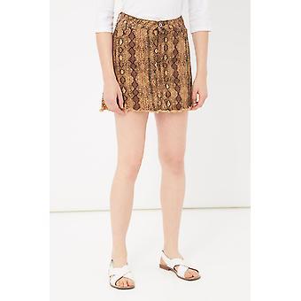 Maroon Skirt Please Woman