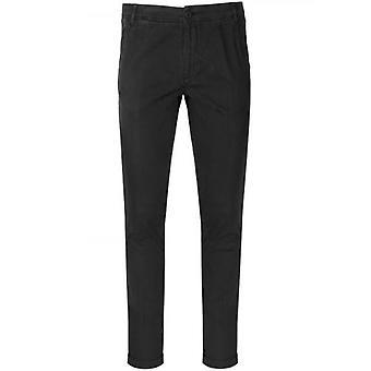 CC Collection Corneliani Black Moleskin Trousers