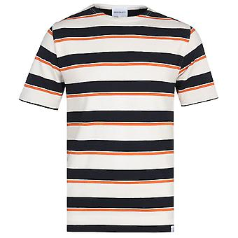 Norse Projects Godtfred Tri-Tone Stripe Short Sleeve T-Shirt