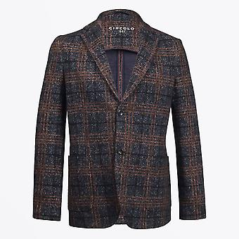 Circolo 1901  - Cotton Check Blazer - Navy/Multi