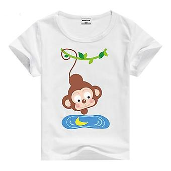 Summer Cotton Short Sleeve T-Shirt, Monkey, Infant