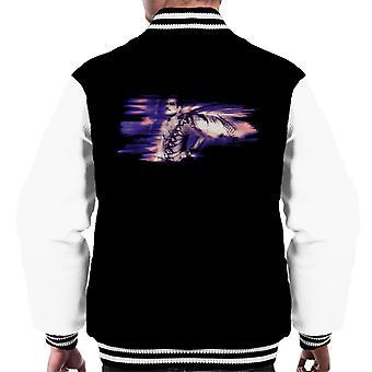 Freddie Mercury Of Queen Its A Hard Life Shoot 1984 Purple Flare Men's Varsity Jacket