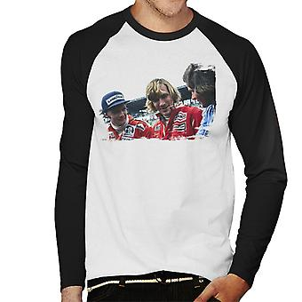 Motorsport Bilder Niki Lauda James Hunt & Barry Sheene Men's Baseball Langarm T-Shirt