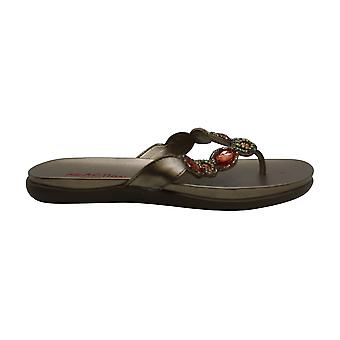 Kenneth Cole Womens Glam Leather Split Toe Slip On Slippers
