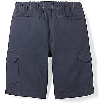 Spotted Zebra Boys' Big Kid Cargo Shorts, Navy, Medium (8)