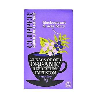 Organic Blackcurrant And Acai Infusion 20 infusion bags
