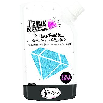 Aladine Izink Diamond Glitter Paint 24 Carats Blue 80ml