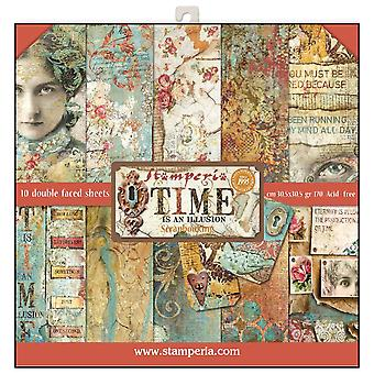 Time is an Illusion 12x12 Inch Paper Pad (SBBL33)