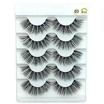 3d Mink False Eyelashes - Natural Wispy Fluffy,dramatic Extension