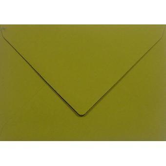 Papicolor 6X Envelop C6 114x162 mm Mosterdgroen