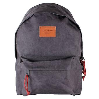 Watershed Union Leather Badge Backpack - Charcoal Grey