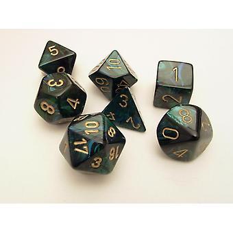 Chessex Polydice Set - Scarab Jade/gold