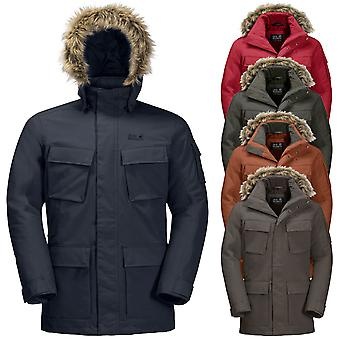Jack Wolfskin Mens 2021 Glacier Canyon waterdichte geïsoleerde Parka Jacket Coat