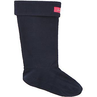 Joules Womens Welton Fleece Fold Over Wellington Socks
