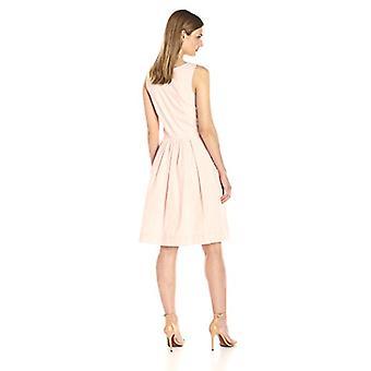 Marke - Lark & Ro Women's Sleeveless Cross-Front Fit und Flare Kleid, ...