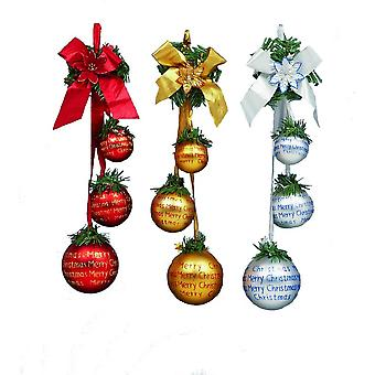 Premier Hanging Ball Cluster Christmas Decorations (Pack of 3)