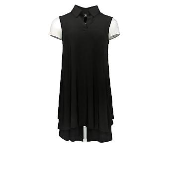 Frauen mit Kontrolle Frauen's Top Sleeveless Long Black