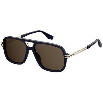 Sunglasses Men's Rectangular Premium for Men's Blue/Brown