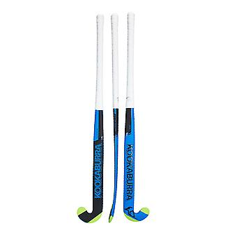 Kookaburra 2019 Invade L-Bow Indoor Field Hockey Stick Blau/Schwarz/Grün
