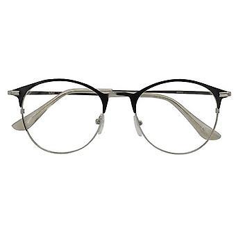 Leesbril Women's Janis zwart/zilver dikte +1.00