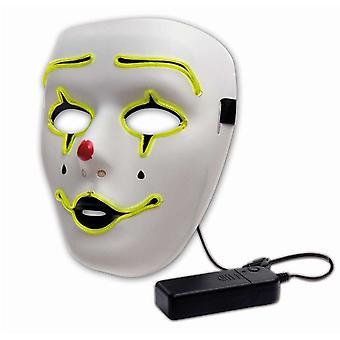 Masque lumière LED Maske Halloween clown Clownmaske