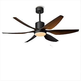 Wind Ceiling Fan With Led Light - Remote Control Restaurant Living Room Ceiling Fans