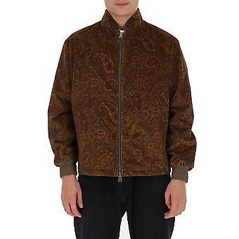 Etro 1s85756320150 Men's Brown Fabric Outerwear Jacket