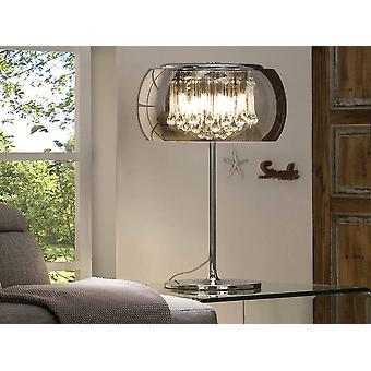 4 Lampe de table en cristal clair Chrome, Miroir, G9