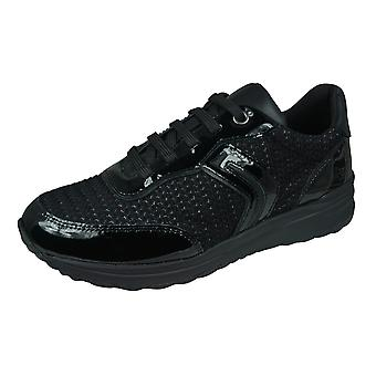Geox D Airell A Womens Trainers / Shoes - Black