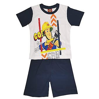 Fireman sam boys pyjama set cotton short sleeve
