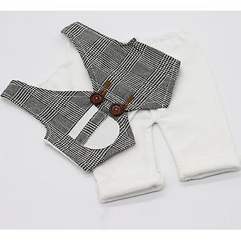 Vastasyntynyt vauva valokuvaus vaatteet rekvisiitta, pieni herrasmies liivi & shortsit puku
