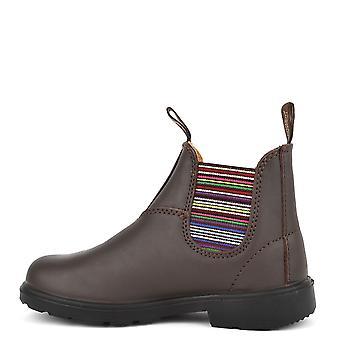 Blundstone Kids 1413 Chelsea Leather Boots Walnut Stripe