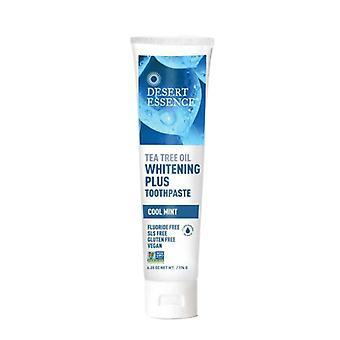 Desert Essence Tea Tree Oil Toothpaste Whitening Plus, Cool Mint, 6.25 oz
