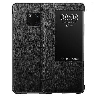 Leder Flip Case für Huawei Mate 10 schwarz lvwawa-13
