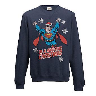 Superman adultos Unisex adultos Navidad héroe Crewneck sudadera