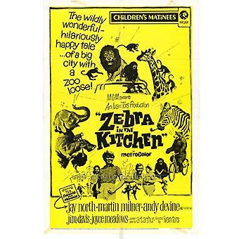 Zebra in der Küche-Film-Plakat-Druck (27 x 40)