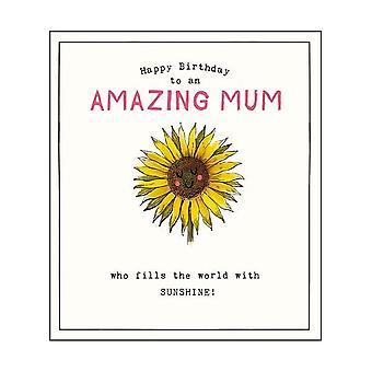 Pigment Etched Amazing Mum Card