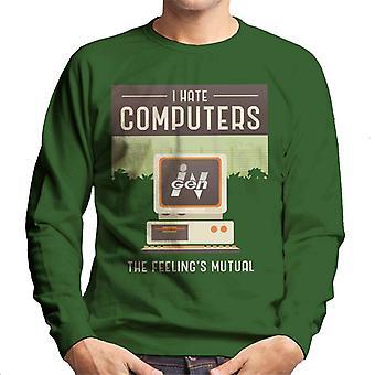 Jurassic Park Ingen I Hate Computers The Feelings Mutual Men's Sweatshirt